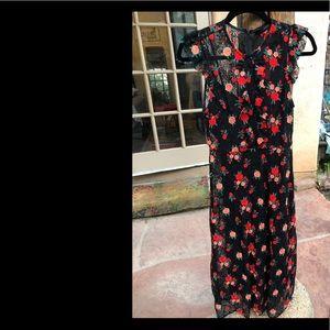 Zara black floral lace dress